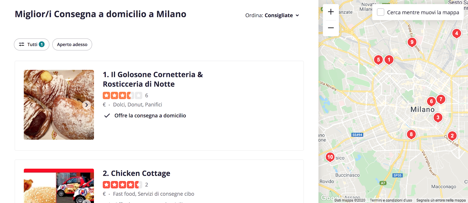 omnichannel arkage yelp milano